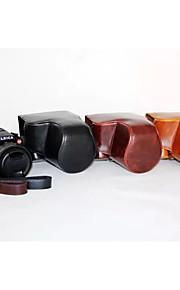 dengpin pu læder olie hud aftagelig kamera cover sag taske til Leica v-lux typ114 (assorterede farver)