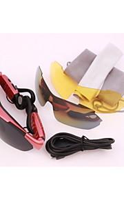 puede escuchar música llama bluetooth estéreo inteligentes gafas polarizadas rojos