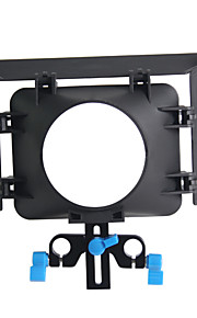 matte box m1 15 milímetros suporte vara equipamento ferroviário de vídeo 43 milímetros 77 milímetros
