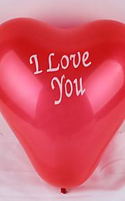 (100 unidades) de 12 polegadas eu te amo coração forma de balão (cor aleatória)