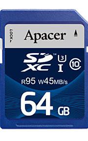 Apacer uhs-i cartão de memória SDHC de 64GB u3 class10 R95 / W45