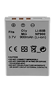 900mah camera batterij pack voor olympus li-80b /min.np-900