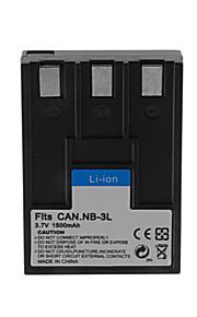 1500mAh camera batterij pack voor Canon NB-3L
