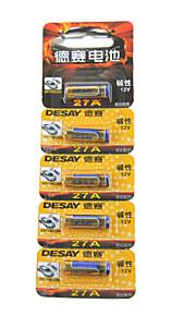 Desay 5pcs 12v 27a alkaline batterij voor draadloze deurbel / afstandsbediening / alarm