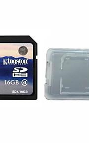 classe 16gb kingston cartão original digital de 4 sd da memória e da caixa de cartão de memória