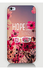 Flowers in English Pattern Case Back Cover for Phone4/4S Case