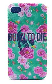 nascita alla morte modello pc acidato trasparente della copertura posteriore per iPhone 4 / 4S