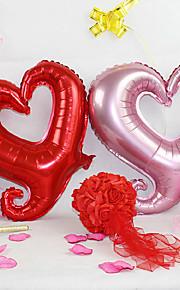 (5 peças) colorido de 18 polegadas balões amor gancho do cinto de alumínio rosa (cor aleatória)