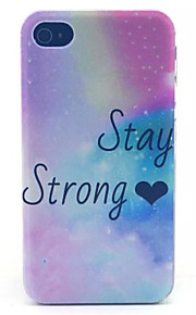 Love Glitter Pattern Transparent Frosted PC Back Cover For  iPhone 4/4S