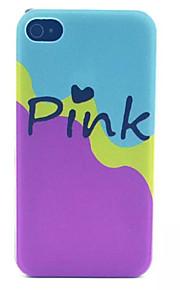 Pink Pattern latte pc acidato trasparente della copertura posteriore per iPhone 4 / 4S
