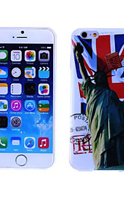 Statue of Liberty Pattern TPU And IMD Soft Case for iPhone 5/5S