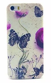 Butterfly Pattern Transparent Frosted PC Back Cover For  iPhone 5/5S