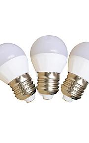 4W E27 LED-globepærer G45 SMD 2835 350 lm Kjølig hvit V 3 stk.