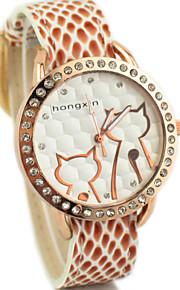 望 太阳 2015/07/04 21: 32: 55women s diamante runde dial pu band quartz analog dress watch