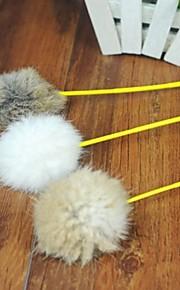 Brinquedo Para Gato Brinquedos para Animais Brinquedo de Provocação Brinquedo com Penas Bastão Cor Aleatória Téxtil