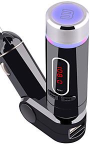 bluetooth handsfree bluetooth met mp3 auto fm-zender met afstandsbediening 5 v / 2 een autolader (afneembaar)