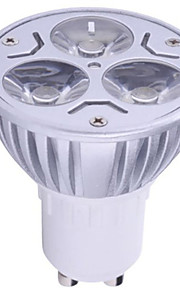 hry®3 * 3ワットGU10の900lm暖かい/クールな光ランプはスポットライトを導いた(85-265v)