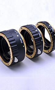 gyldne metal autofokus AF makro forlængerrør / ring til Kenko Canon EOS EF-S-objektiv