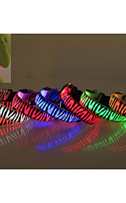 레드/화이트/그린/블루/핑크/옐로우/오렌지 - 방수/LED 조명 - 나일론 - 칼라 - 개