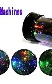stjernehimmel nattehimmelen projektor fargerike ledet nattlys (2 stk, tilfeldige farger, drevet av seks AA-batteri)