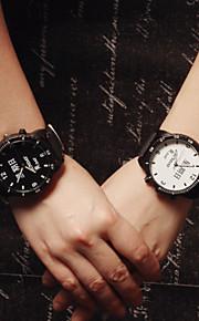 relógio de pulso homens relógio de algarismos romanos mulher alunos simples do casal assistir