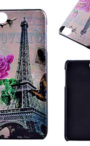 아이팟 터치 5 casefor 전송 타워 패턴 프로스트 PC 소재 전화