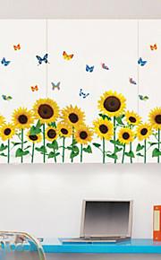 multifunções diy girassol pvc e teste padrão de borboleta adesivos decorativos