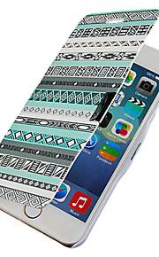 nationell stil magnetisk flip hela kroppen fallet med hål för iphone 6 plus