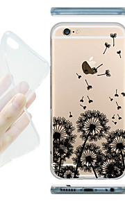 MAYCARI® Flying Dandelions Transparent Soft TPU Back Case for iPhone 6