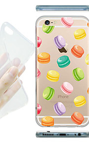 MAYCARI® The World of Macarons Transparent Soft TPU Back Case for iPhone 6