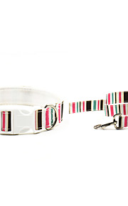 Oxford-The Stripe Style Pet Collar and Leash Suit (Assorted Sizes,Colors)