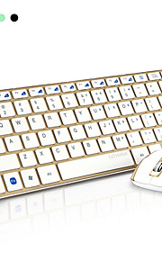 HK3910 Super Thin Aluminum Alloy Structure 2.4G Wireless Keyboard +1000DPI Mouse Set - (4 x AAA)