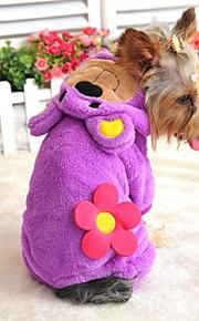 Casacos/Calças/Camisola com Capuz - Púrpura - de Malha polar - Casamento/Fantasias - para Cães/Gatos