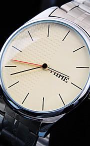 simples vida moda rodada cinta de aço inoxidável de discagem negócio relógio de quartzo impermeável dos homens