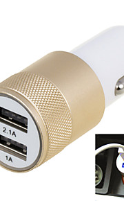 2.1A Double Port USB Universal Quick Car Charger Adapter (12-24V)(Assorted Colors)