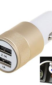 2.1a dubbele poort usb universele snelle autolader adapter (12-24) (verschillende kleuren)