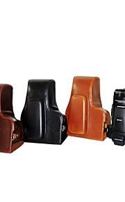 dengpin pu læder kamerataske taske cover til Nikon Coolpix p900s (assorterede farver)