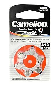 camelion zinc audience d'air bouton d'aide taille de la cellule A13 (6 pcs)