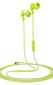 son entonnent e6 écouteurs de sport bruit isoler les écouteurs avec microphone en ligne et le contrôle du volume à distance
