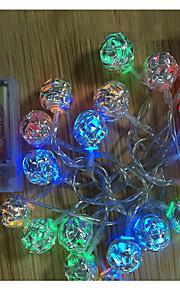 20-ledede 2m ball formet pendellampe string 2a batteri christmas bryllup dekorasjon