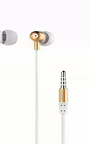 m298 mote øretelefon 3,5 mm generelle in-ear hodetelefoner for iphone samsung (svart gull sølv)