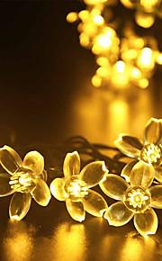 GMY jul lys blomst form 50led solens lys varm hvit / kaldhvit / mix farge