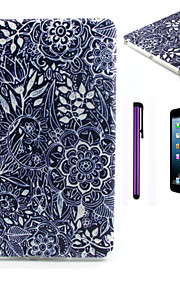 Black Flower Pattern TPU Soft Back Cover Case for iPad Mini 3/iPad Mini 2/iPad Mini