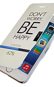 oroa dig inte vara lycklig magnetisk flip hela kroppen fallet med hål för iphone 6 plus