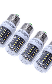 4pcs CRI 300lm 3W E14 / E27 youoklight®>80 3000K / 6000K 36 * smd4014 הובילו הנורה תירס אור (110-120v / 220-240V)