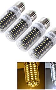 4pcs CRI 650lm 7W E14 / E27 youoklight®>80 3000K / 6000K 72 * smd4014 הובילו הנורה תירס אור (110-120v / 220-240V)