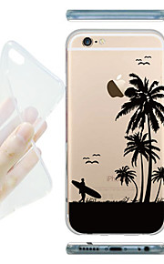 MAYCARI® Travel on the Seaside Transparent Soft TPU Back Case for iPhone 6