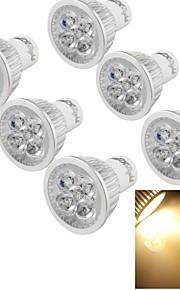 6 stk. YouOKLight GU10 4 W 4 Høyeffekts-LED 400 LM Varm hvit G Dekorativ Spotlys AC 220-240 V