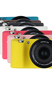 dengpin armadura de borracha de silicone pele caso saco tampa da câmera suave para samsung nx500 (cores sortidas)