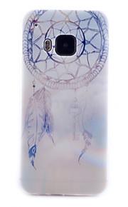 HTC M9에 대한 초롱 꽃속 패턴 투명 TPU 소재 전화 케이스